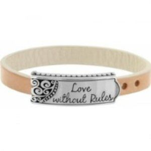 Brighton Sweet Talk Silver Leather Bracelet